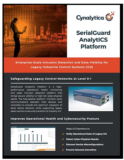 SerialGuard AnalytICS Platform Product Sheet