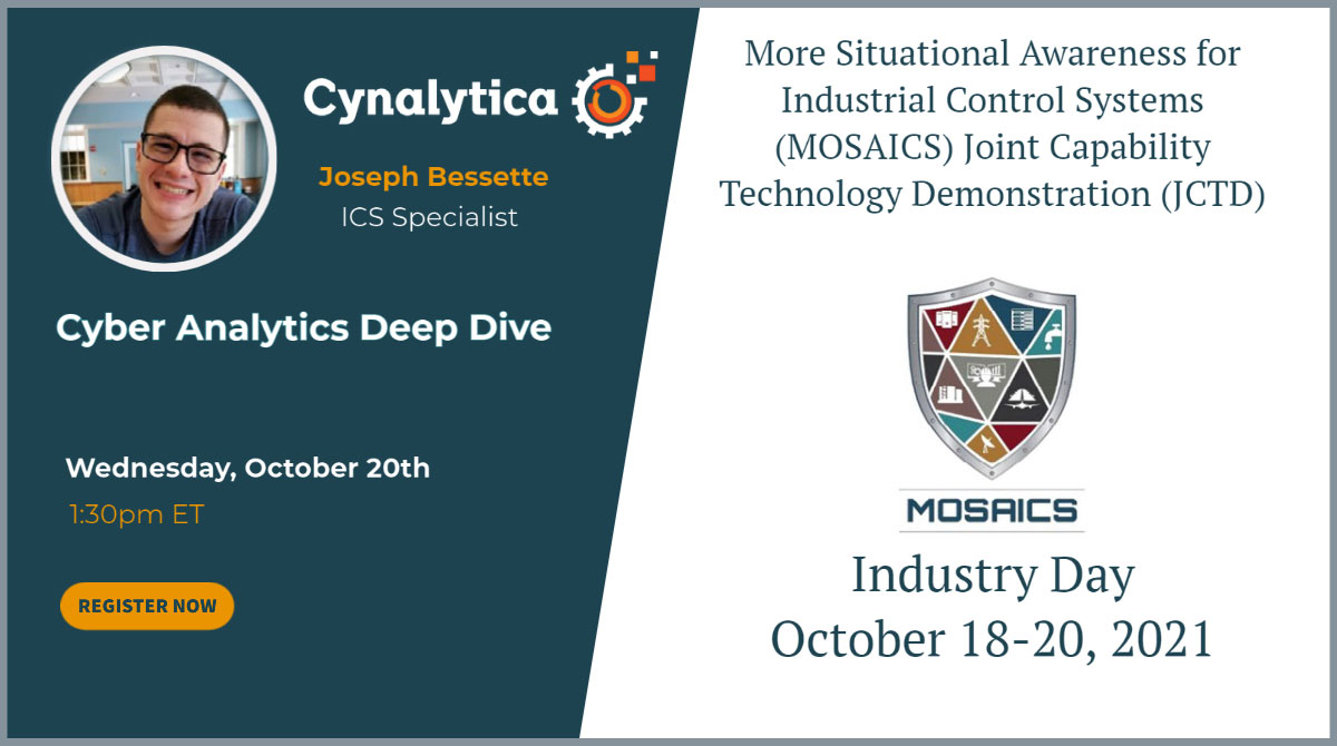 cynalytica will present at mosaics industry day October 20th 2021
